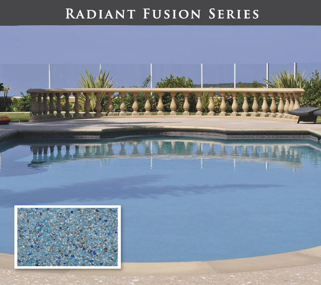 Pool and spa with Gemstone finish