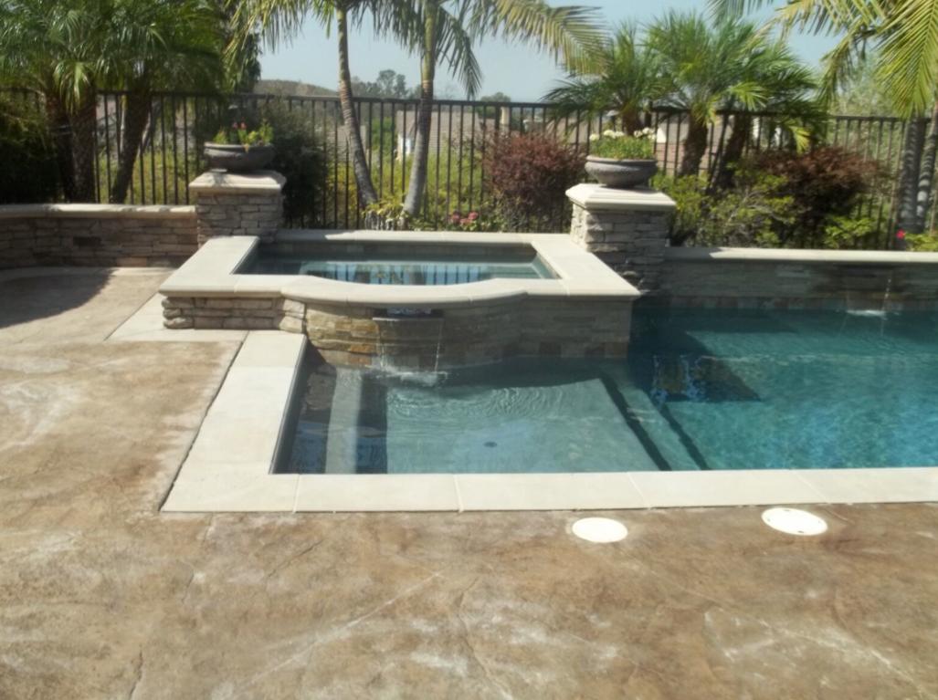 Micro Fusion Dark Grey Rectangular Pool and Spa