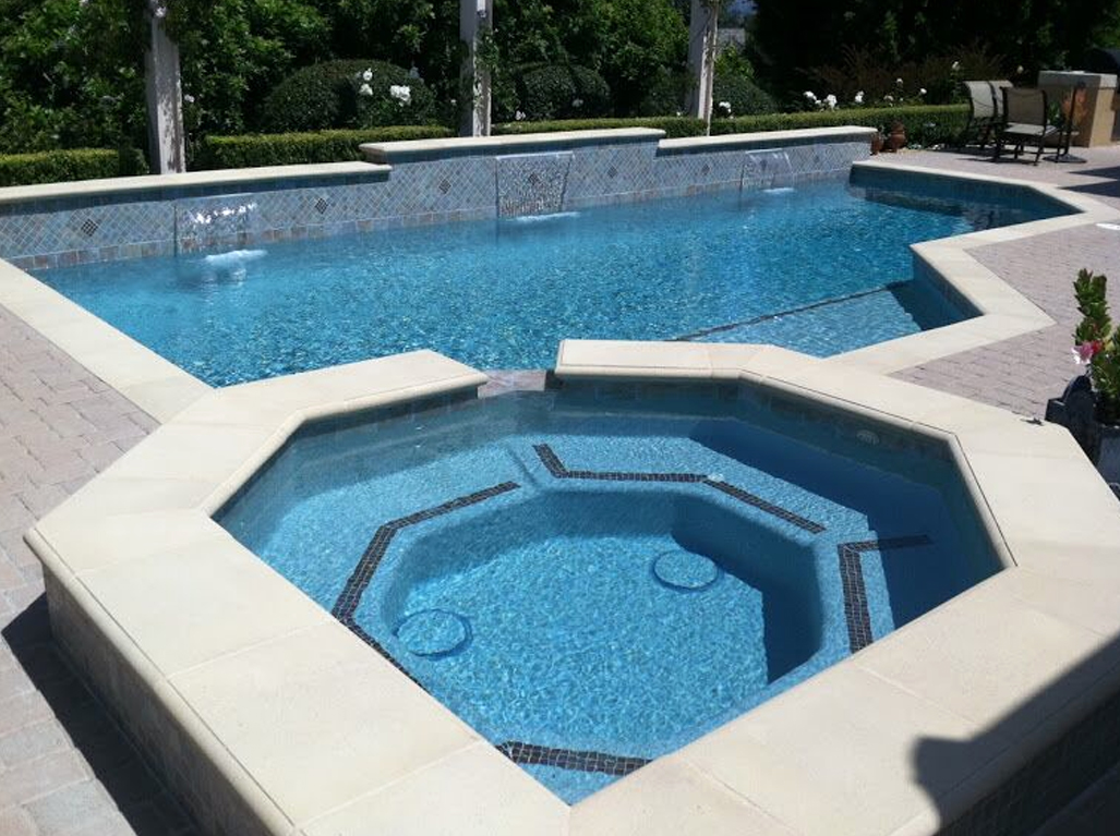 Sandstone Crystal Blue Spa and Pool
