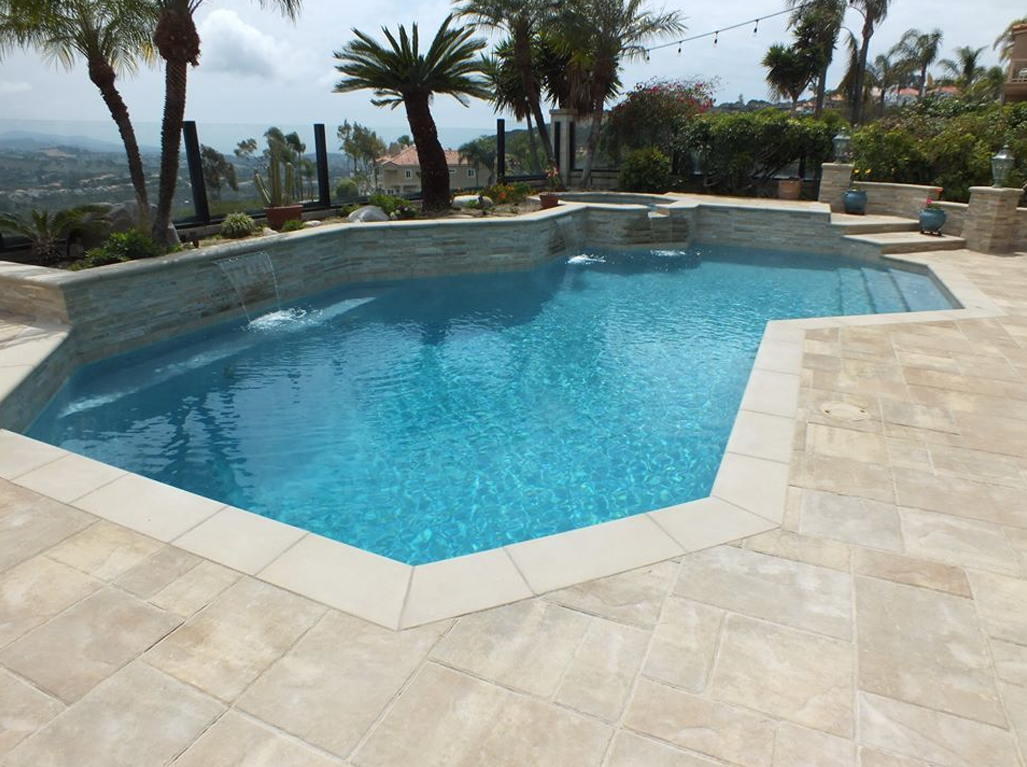 Radiant Fusion Crystal Blue Geometric Pool