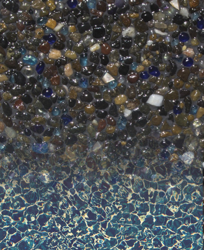 Gemstone Jewels for Pools Series - Obsidian with Pebble Radiance
